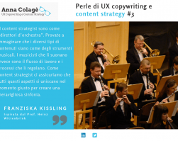 Perle di UX copywriting e content strategy