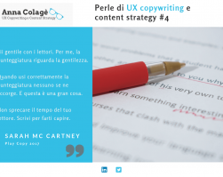 Perle di content strategy e UX copywriting
