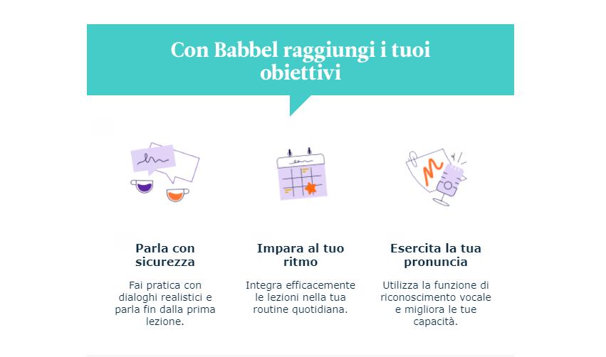 Esempio di microcopy di Babbel box di una offerta nella newsletter